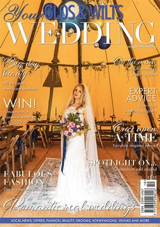 Cover of the October/November 2021 issue of Your Glos & Wilts Wedding magazine