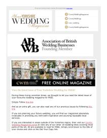 Your Yorkshire Wedding magazine - March 2021 newsletter