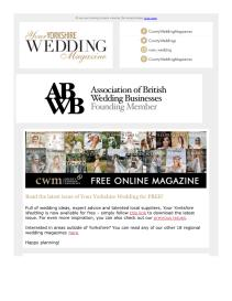 Your Yorkshire Wedding magazine - May 2021 newsletter
