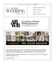 Your Yorkshire Wedding magazine - September 2021 newsletter