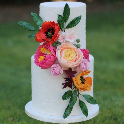 Yorkshire's Sophia's Cake Boutique tells us how to incorporate colour into a wedding cake