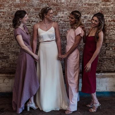 Harrogate bridal designer Luna Bride has released a sustainable bridesmaids' collection