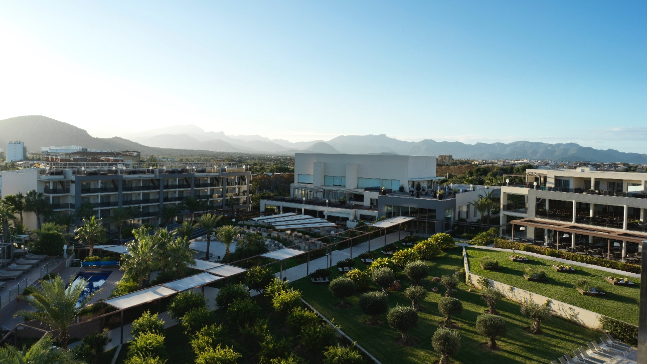 A rooftop view of the Zafiro Palace in Alcudia, Mallorca