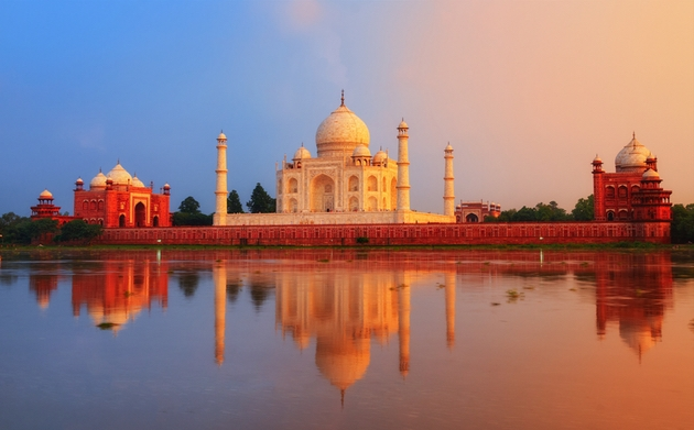 A riverside Indian palace