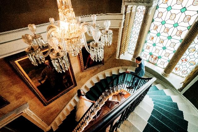 Chandelier/stairwell