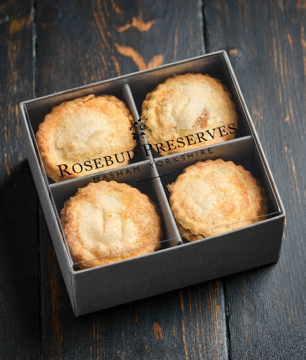 mince pies in a presentation box